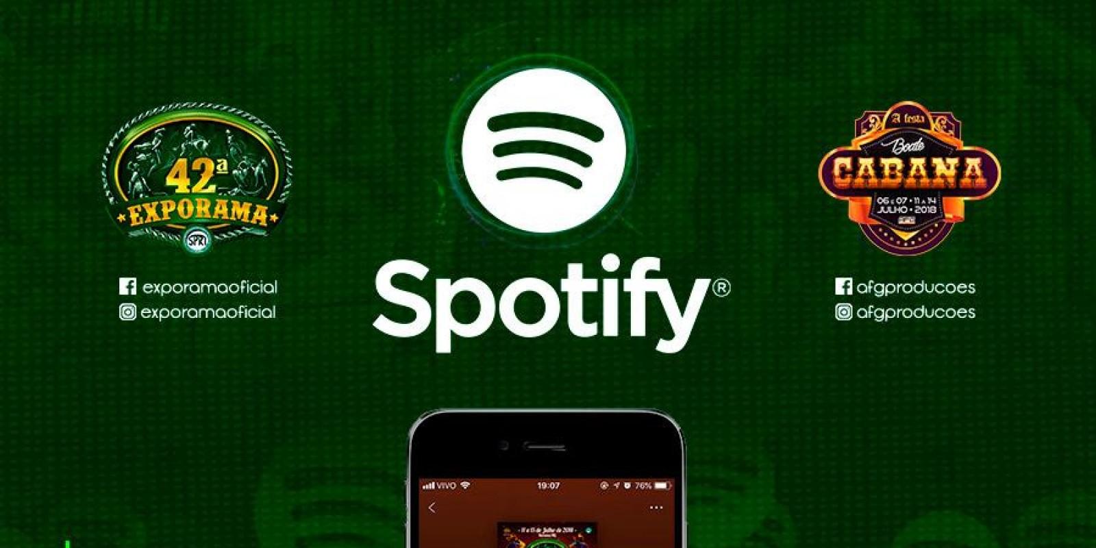 Já está disponível no Spotify a Playlist da 42ª Exporama e Boate Cabana!